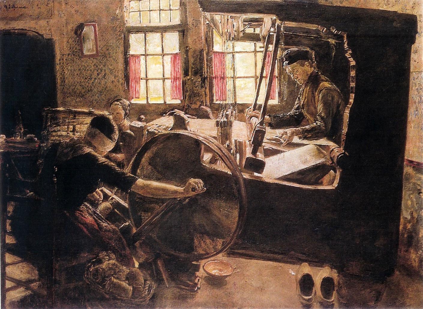 Max Liebermann, 'Der Weber'