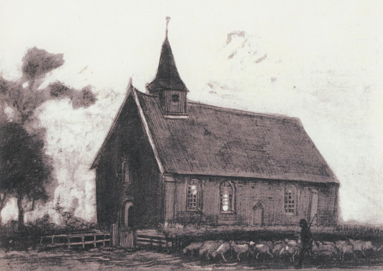 Vincent van Gogh, 'Kerkje van Zweeloo'