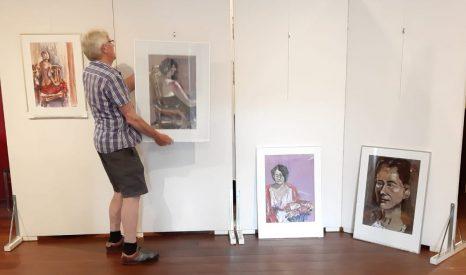 Inrichten expo Bert Robben juni-aug2021
